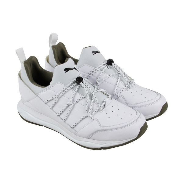 Puma X Trapstar Cell Bubble Mens White Leather Athletic Running Shoes