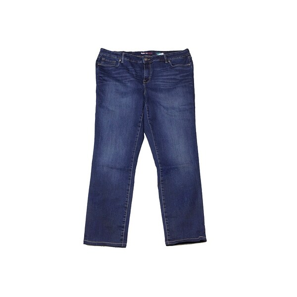 108c0c44cdb Shop Style   Co Plus Size Light Blue Washed Slim Leg Jeans 18W ...