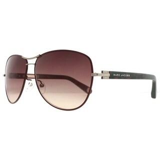 Marc Jacobs MJ 522F 1GR QX Burgundy Leopard/Brown Women's Aviator Sunglasses - 61mm-13mm-135mm