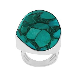 Sajen Mosaic Turquoise Ring in Sterling Silver - Green