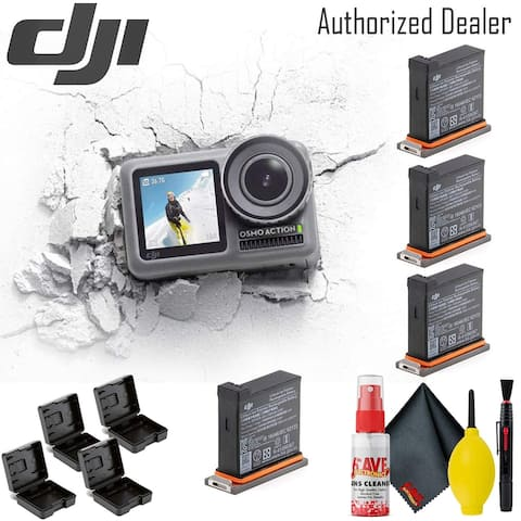 DJI Osmo Action Camera - Battery (4) Cases - Cloth - Clean Kit