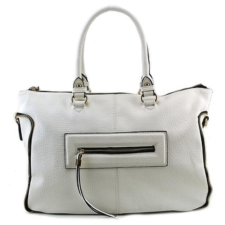 Urban Expressions Alessandra Satchel Women Faux Leather White Satchel NWT