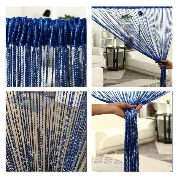 String Curtain Fringe Panel 39 X 79 W H Thread Bedroom Door Window Divider 39 X 79 Overstock 28739719