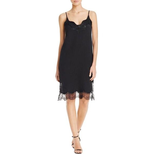 6dbd5eec42c9f Shop Bardot Womens Karlie Slip Dress Lace Trim Knee-Length - Free Shipping  On Orders Over $45 - Overstock - 17374134