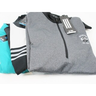 Adidas 3 Pack 1/4 Zip Pullover Medium Teal and Gray Logo Overuns Limited Edition