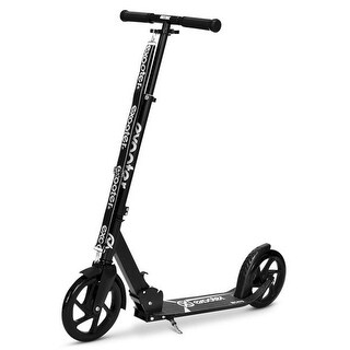 Exooter Teen Cruiser Kick Scooter with 200mm Wheels, Black - 5XL