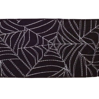 Pack of 4 Black and White Spider Web Halloween Ribbons 360