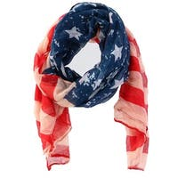 CTM® Women's American Flag Oblong Fashion Scarf - One size