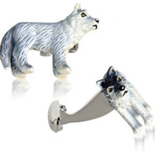 Painted Wolf Cufflinks Animal