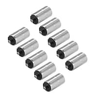 10Pcs DC Female Connector 5.5mm x 2.5mm Power Cable Jack Adapter Silver Tone - 5.5x2.5mm(10Pcs)