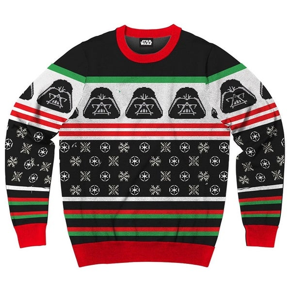 Mens Christmas Sweater.Star Wars Darth Vader Simply Men S Ugly Christmas Sweater