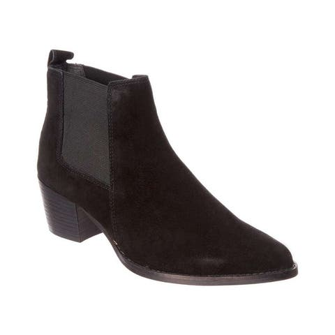 Kenneth Cole New York Womens Russie Suede Pointed Toe Ankle Chelsea Boots