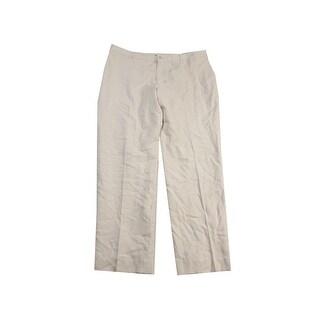 Lauren Ralph Lauren Cream Silk Skinny Pants 12