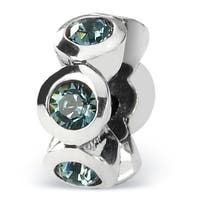 Sterling Silver Reflections Dec Swarovski Elements Birthstone Bead (4mm Diameter Hole)