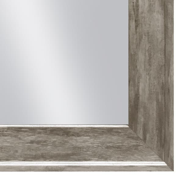 Hanging Framed Wall Mounted Mirror Distressed Wood