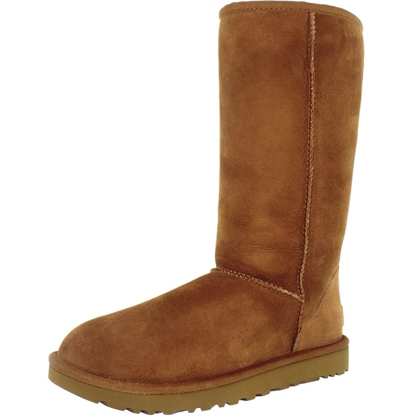 5d56f7d92c2 Shop Ugg Women's Classic Tall II Leather Mid-Calf Suede Boot - Free ...