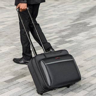 Link to Alpine Swiss Rolling Laptop Briefcase Wheeled Overnight Carry on Bag Up to 15.6 Inches Notebook - Carries Legal Size Files Similar Items in Computer Accessories