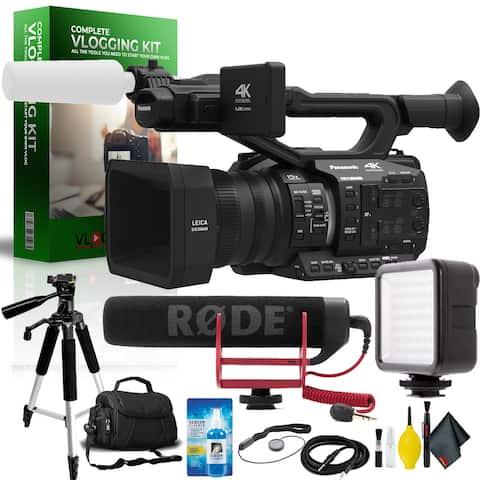 Panasonic AG-UX90 4K/HD Professional Camcorder International Model Complete Vlogging Equipment Kit