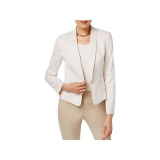 Tommy Hilfiger Womens Blazer Pinstripe Shawl Collar