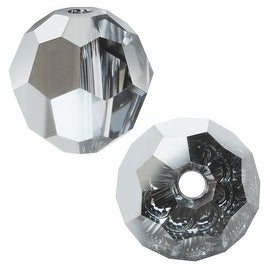 Swarovski Crystal, 5000 Round Beads 3mm, 20 Pieces, Crystal Light Chrome