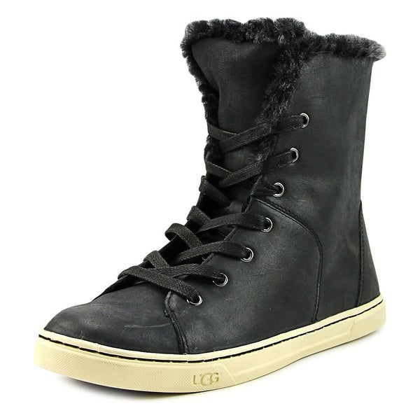 Shop Ugg Croft Luxe Quilt Women Round Toe Leather Black