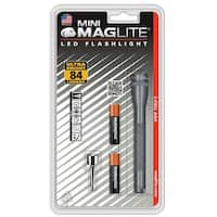 Maglite SP32096 Mini LED Flashlight, Gray, 84 Lumens