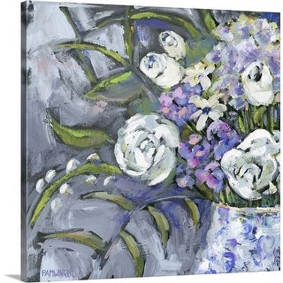 """""""Blue and White Lavender I"""" Canvas Wall Art"""
