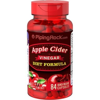 Piping Rock Apple Cider Vinegar Diet Formula (84 Quick Release Capsules)