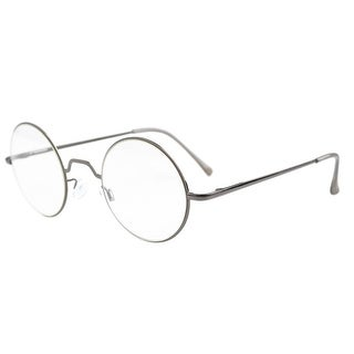 Eyekepper Spring Hinges Round Reading Glasses Gunmetal +1.25