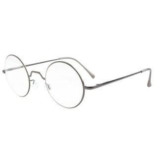 Eyekepper Spring Hinges Round Reading Glasses Gunmetal +1.25