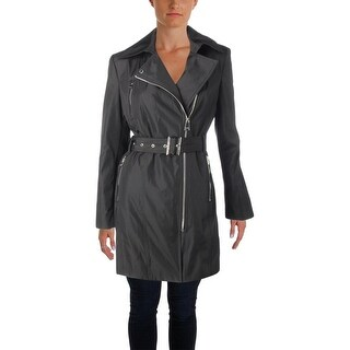 Calvin Klein Womens Trench Coat Fall Water Resistant - M