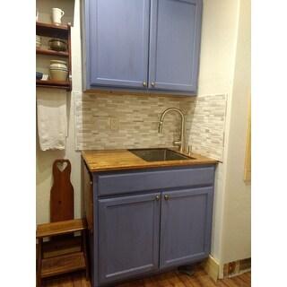 Kraus KHU101-23 Undermount 23-in 16G 1-Bowl Satin Stainless Steel Kitchen Sink, Grid, Strainer, Towel