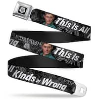Winchester Logo Full Color Black White Supernatural Dean Pose1 This Is All Seatbelt Belt