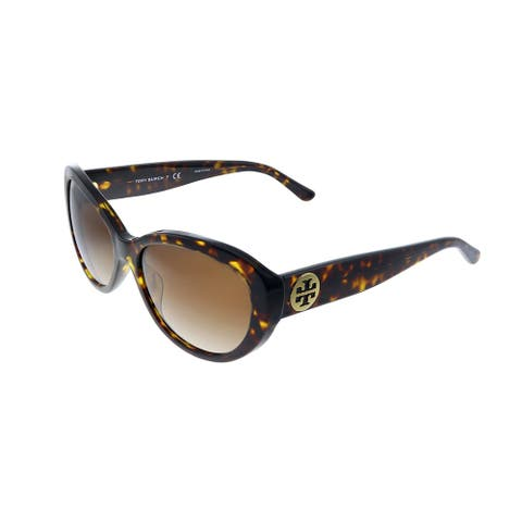Tory Burch TY 7143U 172813 Womens Dark Tortoise Frame Brown Gradient Lens Sunglasses