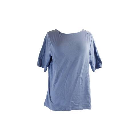 American Living Blue Short Sleeve U-Back T-Shirt XL