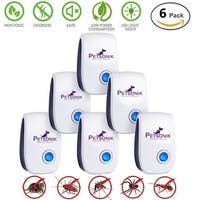 Petsonik Outdoor/Indoor Ultrasonic  Electronic Pest Repeller Control Device , Mice, Insects, Bugs, Roach, Mosquito, etc., 6-Pack