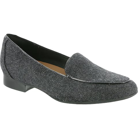 Unstructured by Clarks Womens Un Blush Ease Loafers Block Heel Slip On - Grey - 10 Medium (B,M)