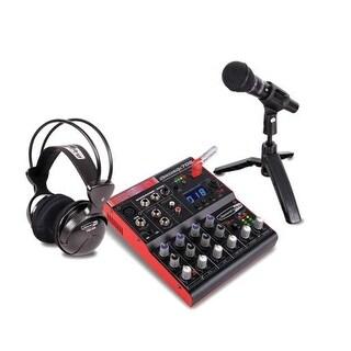 Full Digital Recording Studio Kit w/7-channel mixer w/USB recorder, microphone, headphones, software