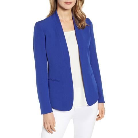 Anne Klein Womens Open Front Blazer Jacket