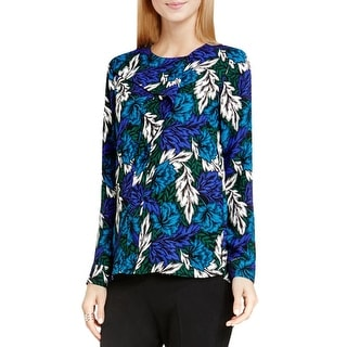 Vince Camuto Womens Blouse Floral Print Long Sleeve