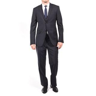 Pierre Balmain Wool Two Button Suit Dark Navy