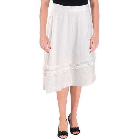 Ivanka Trump Womens Peasant, Boho Skirt Ruffled Asymmetric