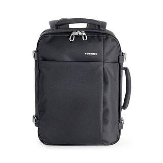 Tucano Tugo Medium Water Resistant Travel Notebook Backpack with Security Pockets for Laptops up to 15.6"