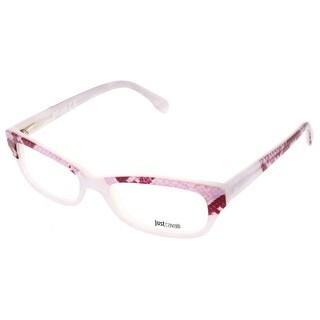 Just Cavalli JC0473/V 024 Pink Snakeskin Print Rectangle Optical Frames