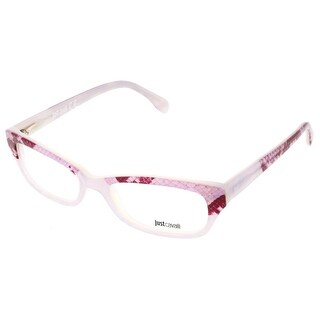 Just Cavalli JC0473/V 024 Pink Snakeskin Print Rectangle Optical Frames - 52-17-135