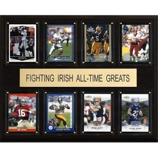 C I Collectables 1215ATGIRISH NCAA Football Notre Dame Fighting Irish All Time Greats Plaque