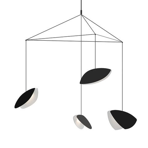 Sonneman Papillons 4-Light Satin Black Large LED Pendant