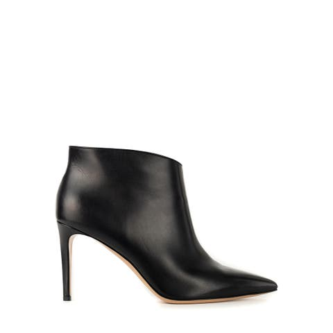 Gianvito Rossi Womens Black Leather Kat Mid Bootie