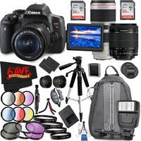 Canon EOS Rebel T6i DSLR Camera with 18-55mm Lens (Intl Model) and Canon EF 70-200mm f/2.8L IS II USM Lens