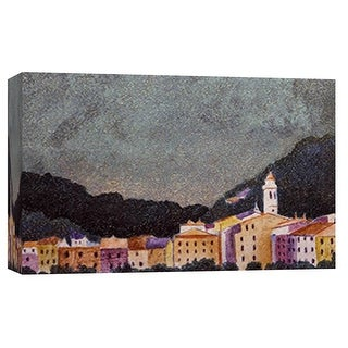 """PTM Images 9-101780  PTM Canvas Collection 8"""" x 10"""" - """"Little Town 2"""" Giclee Mountains Art Print on Canvas"""